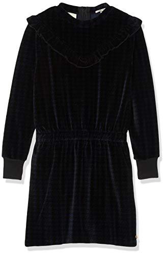 Scotch & Soda Mädchen Velvet Sweat Dress in Houndstooth All-Over Print Kleid, Mehrfarbig (Combo A 217), 116 (Herstellergröße: 6)