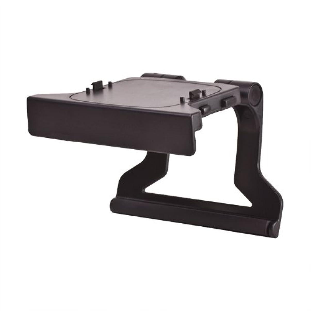 TNP Xbox 360 TV Mount Clip Mounting Stand Holder Cradle Dock Bracket (Black) for Microsoft Xbox 360 Kinect Sensor Camera [Xbox 360]