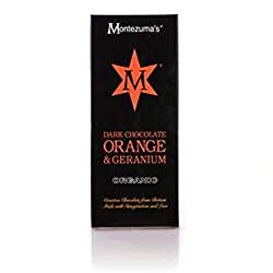 Montezumas Organic Dark Chocolate with Geranium and Orange 100 g (Pack of 4) Montezumas Organic Dark Chocolate with Geranium and Orange 100 g (Pack of 4) Montezumas Organic Dark Chocolate with Geranium and Orange 100 g (Pack of 4)