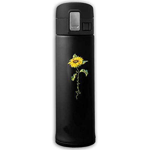 Preferred Store Sunflower Twenty One Pilots Vacuum Water Bottle Bouncing Cover Insulation Vacuum Cup Stainless Steel Thermos Black