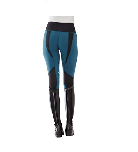 Horseware Tech Womens Riding Tights X Large Petrol Blue