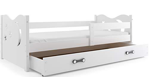 Cuna para niño Nicolò 160x 80 cm, cama con cómoda, para dormitorio de niños y jóvenes, colchón de esponja incluido.