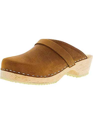 Lotta From Stockholm Swedish Clogs Classic in Brown Oiled Nubuck-37