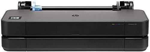 HP DesignJet T230 Stampante per Grandi Formati da 61 cm 5HB07A, Formati supportati da A4 ad A1, velocità 68 Pagine A1 all'Ora, Gigabit Ethernet, USB Hi-Speed 2.0, Wi-Fi, Garanzia 1 Anno, Nero
