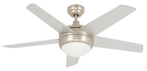 Lucci Air plafondventilator Penta inclusief afstandsbediening, diameter 112 cm, mat nikkel, 5 vleugels zilver mat, BI2114002