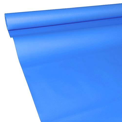 JUNOPAX 19243163 Papiertischdecke 50m x 1,15m blau nass- und wischfest