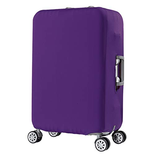 Travel Suitcase Cover Luggage cover Protector Elastic Cover Washable Anti-Scratch Stretchy Protector Fit for 29-32 Inch Luggage (Violet)