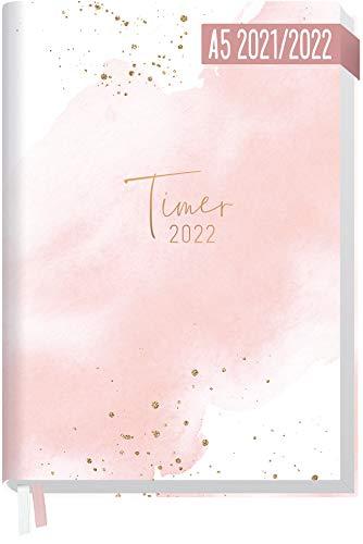 Chäff-Timer Classic A5 Kalender 2021/2022 [Blush] Terminplaner, Terminkalender für 18 Monate: Juli 2021 bis Dez. 2022 | Wochenkalender, Organizer mit Wochenplaner | nachhaltig & klimaneutral