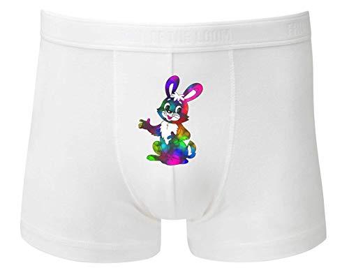 Druckerlebnis24 Boxershort - Hase Kaninchen Ostern Tier - Unterhose für Herren und Männer
