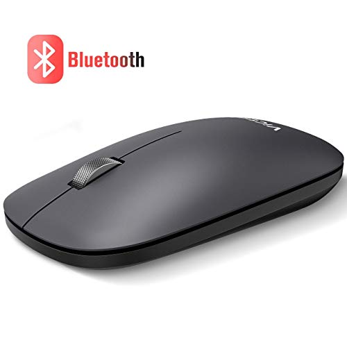 VicTsing Bluetooth Maus Kabellos, Ultra-dünne Dual-Mode Wireless Mouse mit 5 DPI Stufige, Tragbare Funkmaus mit Silent klick für Notebook, PC, Laptop, Computer, Android, Windows