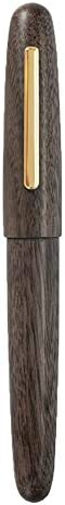 Jinhao 9056 Natural Walnut Wood Fountain Pen Iridium Fine Nib Smooth Writing Pen product image