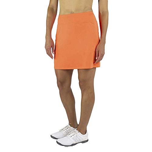 Jofit Women's Athletic Clothing Long Mina Golf and Tennis Skort with Built-in Undershorts, Size Small, Flamingo