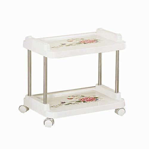 Einfache Idee Trolleymultifunctional Beauty Car Friseursalon Trolley Home Küche Badezimmer Werkzeug Auto Regal Praktisch, T-C, Weiß, 46 * 31 * 45CM