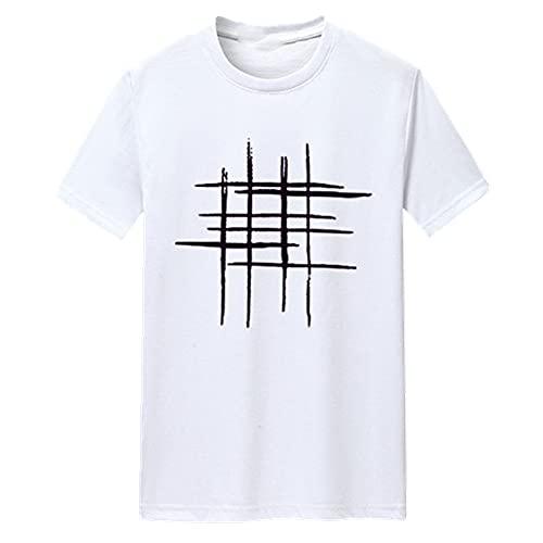 N\P Camiseta de manga corta para hombre, blanco, XXL