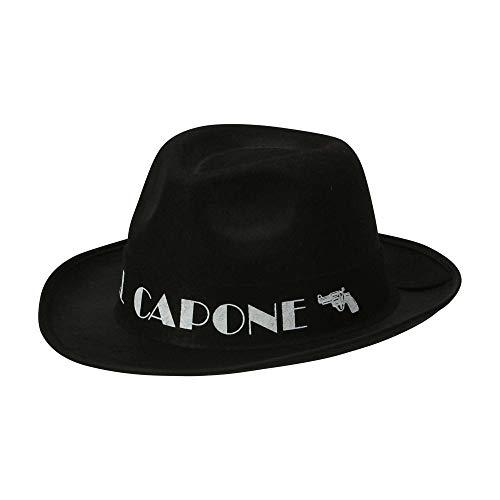 Widmann 01884 Al Capone Hut aus Filz, Unisex– Erwachsene, Schwarz, Einheitsgröße