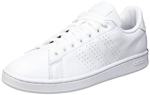 adidas Advantage, Zapatillas de Tenis Hombre, FTWBLA/FTWBLA/Verde, 42 EU