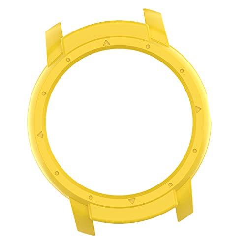 B Blesiya Carcasa de silicona suave para Ticwatch E2 Guard – Amarillo
