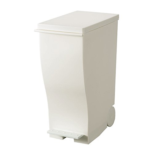 I'mD (アイムディ) ゴミ箱 キャスター付 Kcud クード スリムペダル ホワイト 33L KUD30W