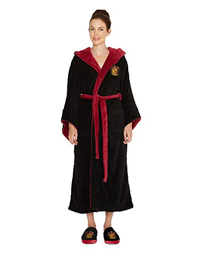 Harry Potter Gryffindor Adult Fleece Hooded Bathrobe (One Size)