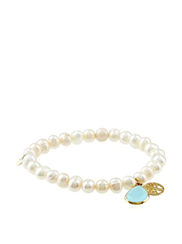 Córdoba Jewels | Pulsera Ajustables de Plata de Ley 925 bañada en Oro diseño Charms Árbol de la...