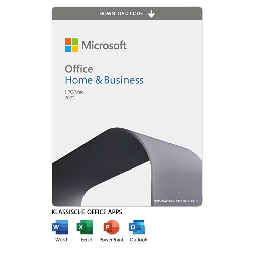 Microsoft Office 2021 | Home & Business | 1 Gerät | 1 Benutzer | PC/Mac | Aktivierungscode per Email
