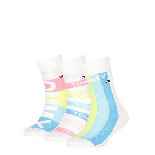 Tommy Hilfiger Girls Kids Giftbox (3 Pack) Socks, pink Combo, 27/30