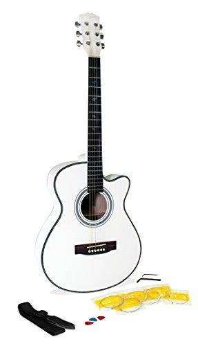 Martin Smith W-401E-WHT - Guitarra acústica con cuerdas metálicas, color...