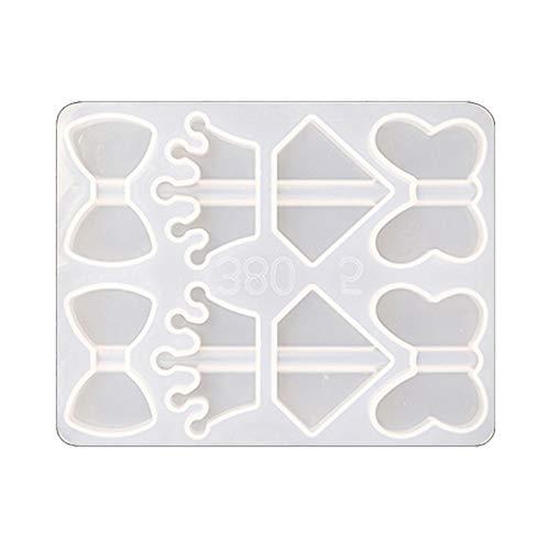 Baiyao Molde de silicona para resina epoxi, moldes de fundición de resina de cristal, moldes de resina epoxi, moldes de resina epoxi para decoración de tazas