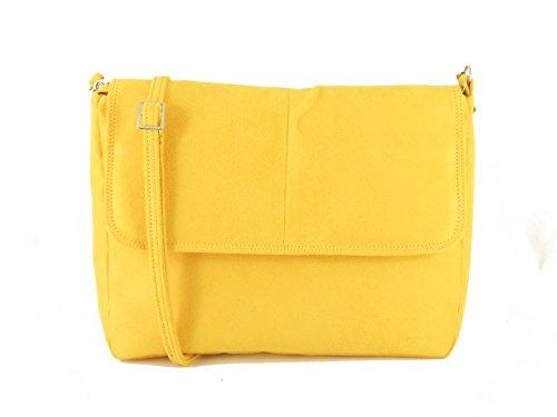 LONI Lucky - Cartera de mano para mujer Amarillo amarillo mostaza Medium
