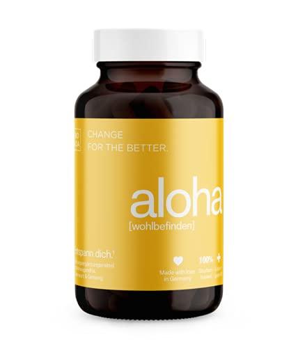 BIOLOA aloha – Natürliches Wohlbefinden & Anti Stress, Kapseln mit Ashwagandha, Rosenwurz & Ginseng - vegan, laborgeprüft, in Deutschland hergestellt