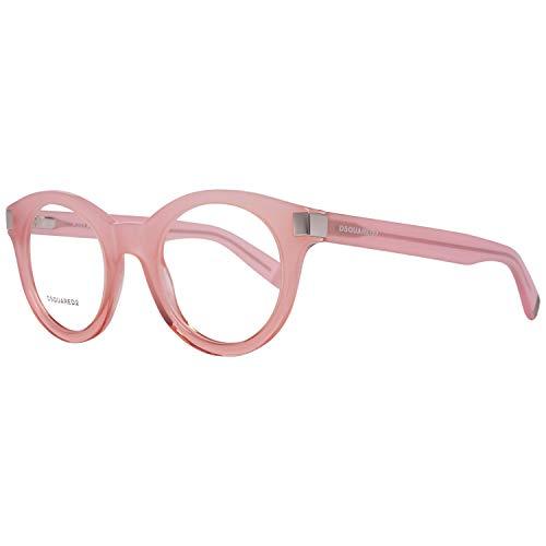 DSquared Dsquared2 Brillengestelle Dq5156 074 49 Monturas de gafas, Rosa (Pink), 56 Unisex Adulto