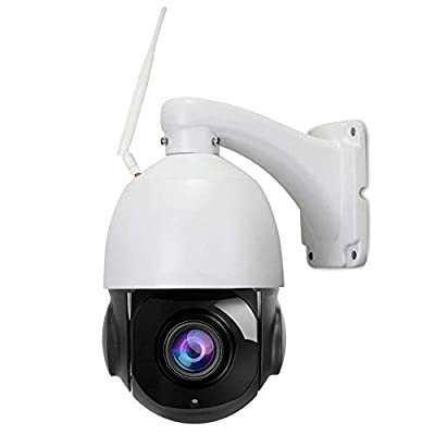 PTZ IP Camera Outdoor, Wireless WiFi Connection, 20X Optical Zoom, Auto Tracking, HD 1080P 2.0 Megapixel, Auto Focus, Human Detect, 328ft Night Vision, SD Card Solution, 2 Way Audio, Security System