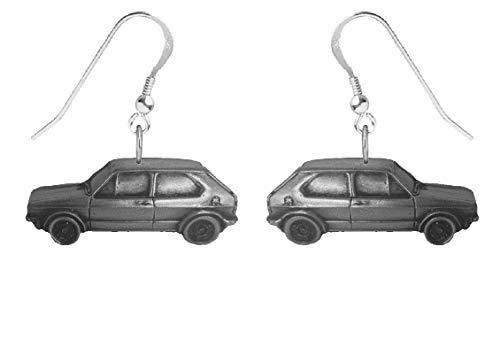 Klassische Golf-GTI-MK1-REF299-Ohrringe mit Haken, Sterlingsilber 925, gestempelt