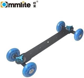 Commlite CS-VD1BLドリーカーカメラドリースライダーDSLRカメラ用トラックスケーター