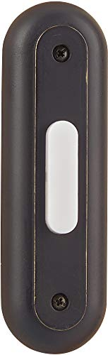 """Craftmade BSRT-AZ Designer Surface Mount Racetrack Lighted Doorbell LED Push Button, Antique Bronze (4.68""""H x 1.38""""W)"""