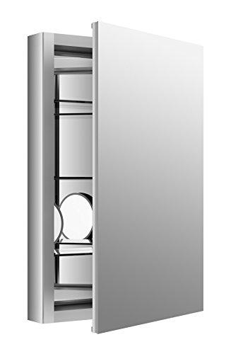 """KOHLER K-99003-SCF-NA Aluminum Verdera Medicine Cabinet with Adjustable flip-Out Flat Mirror, 20"""" W x 30"""" H"""
