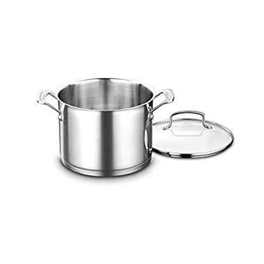 Cuisinart 8966-22 6-Quart. Stockpot w/Cover, Stainless Steel