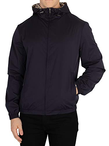 Aquascutum Uomo Tyne Reversible Jacket, Blu, Large
