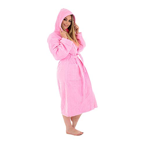 (Large / X-Large, Pink / Hooded) - Unisex 100% Luxury