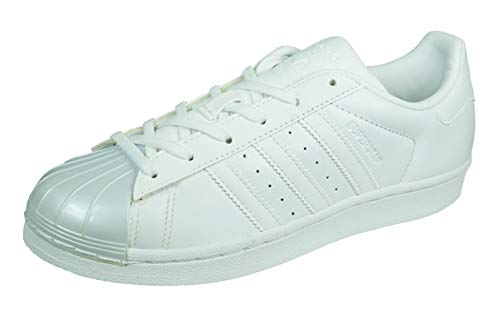 adidas Damen Superstar Glossy Basket, Bianco (Ftwwht/Ftwwht/Cblack), 36 2/3 EU
