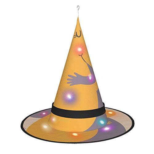 leyhjai Hipoptamo Pareja Colgante Iluminado Brillante Bruja Sombreros Accesorio de Disfraz de Halloween para Fiesta de Halloween Mascarada