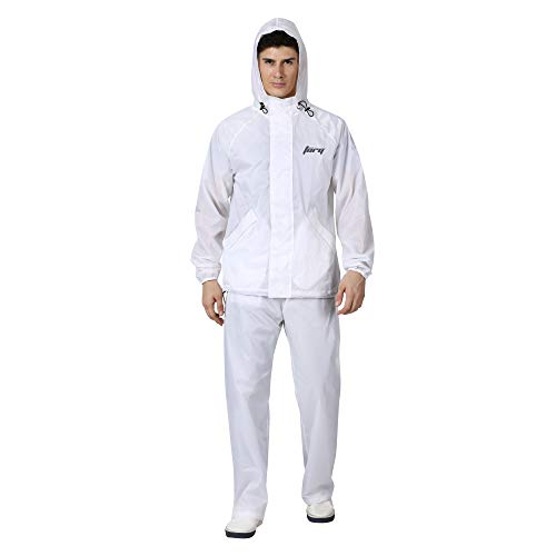 TorQ, From House Of Wildcraft Men's Torq Rain Cheater Suit, from House of Wilcraft Jacket, Pants (8903338314677_White_XXL)