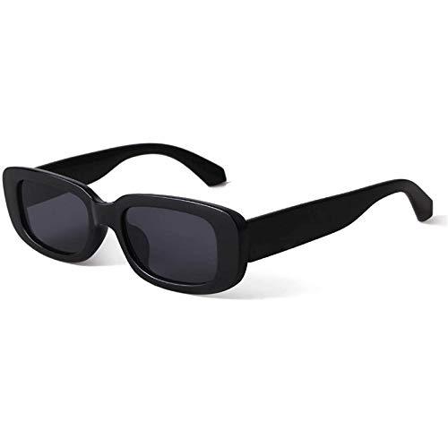 foreverH Polarisierte Sportsonnenbrille für Herren und Damen Rechteckiges Fahren Radfahren Sonnenbrille UV-Schutz, Polarisierte Sonnenbrille UV400 Retro Vintage Brille für Herren und Damen