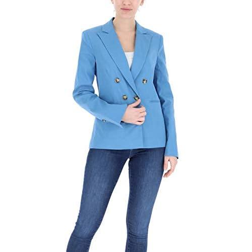 Pinko SINBAD Cappotto, Blu (Azzurro/Acqua Cupo F54), (Taglia Unica: 46) Donna