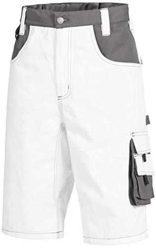 Nitras 7603 Männer-Arbeitshosen Kurz - Shorts für die Arbeit - Weiß - 52