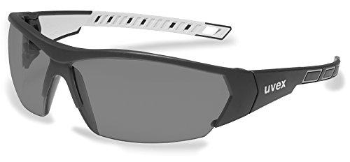 uvex i-works Unisex Arbeitsbrille EN166 & EN172 -, Schutzbrille mit UV400 UV-Filter, schwarz-weiss, getönt