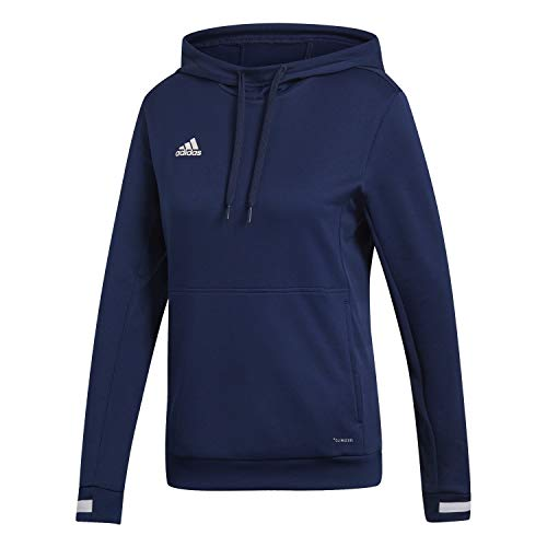 adidas Damen T19 Hoody W Sweatshirt, Team Navy Blue/White, M