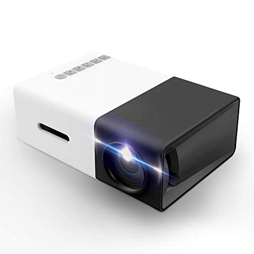 Projector, LoongSon Mini Portable LED Projector, Smartphone Pocket Projector with AV USB SD HDMI for Video/Movie/Game/Home Theater Video Projector
