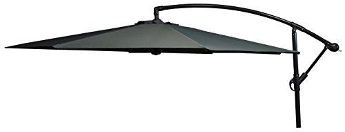 beo Sonnenschirme wasserabweisend mit Standfuß Sonnenschutz, rund, Durchmesser 300 cm, grau