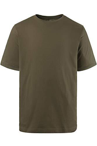 JP 1880 Herren große Größen bis 8XL, T-Shirt, JP1880-Motiv auf der Brust, Basic-Shirt, Rundhalsausschnitt, Reine Baumwolle, Khaki 7XL 702558 44-7XL